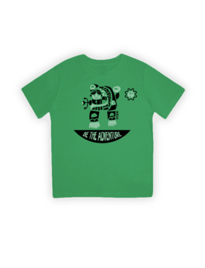 handwalker green organic kids t-shirt