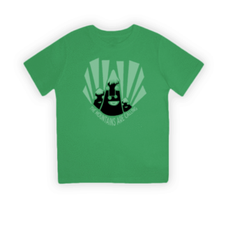 mountains green organic kids t-shirt