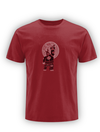 rocketman dark red classic organic t-shirt